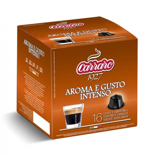 CARRARO, CAFFE' AROMA E GUSTO INTENSO, Dolce Gusto kapsulės, 16 vnt.