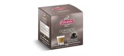 CARRARO, CAFFE' CORTADO, Dolce Gusto kapsulės, 16 vnt.