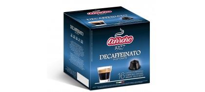 CARRARO, CAFFE' DECAFF, Dolce Gusto kapsulės, 16 vnt