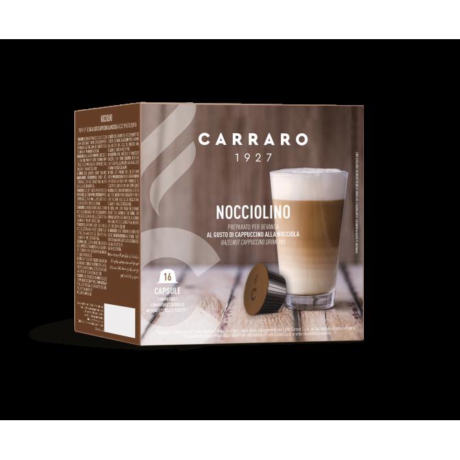 CARRARO, CAFFE' NOCCIOLINO, Dolce Gusto kapsulės, 16 vnt.