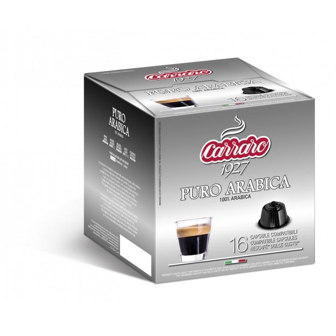 CARRARO, CAFFE' PURO ARABICA, Dolce Gusto kapsulės, 16 vnt.