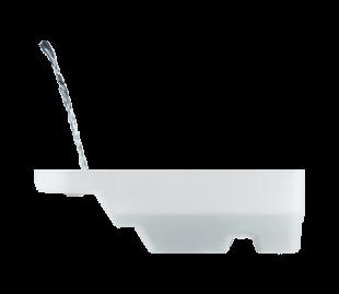 """Šis nusausinimo indas, specialiai suprojektuotas """"Laurastar"""" šveicarų inžinierių, kaupia vandenį, pilną nepageidaujamų dalelių, kai katilas skalaujamas."""