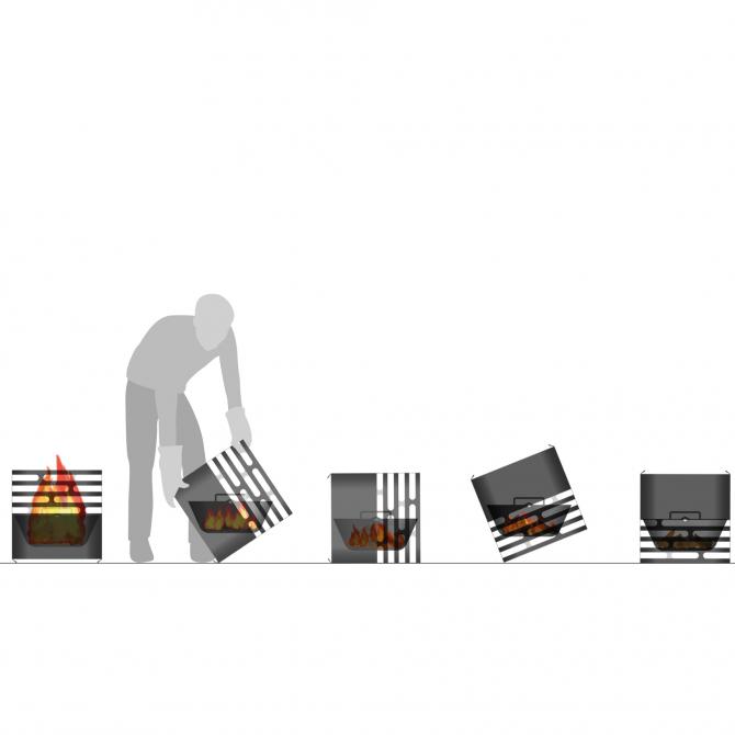HOFATS CUBE kepsninė, juodos spalvos, modernus ir išmanus