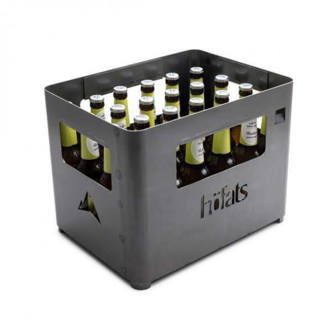 HOFATS BEER BOX kepsninė. Dėžės formos, plieninė, juoda