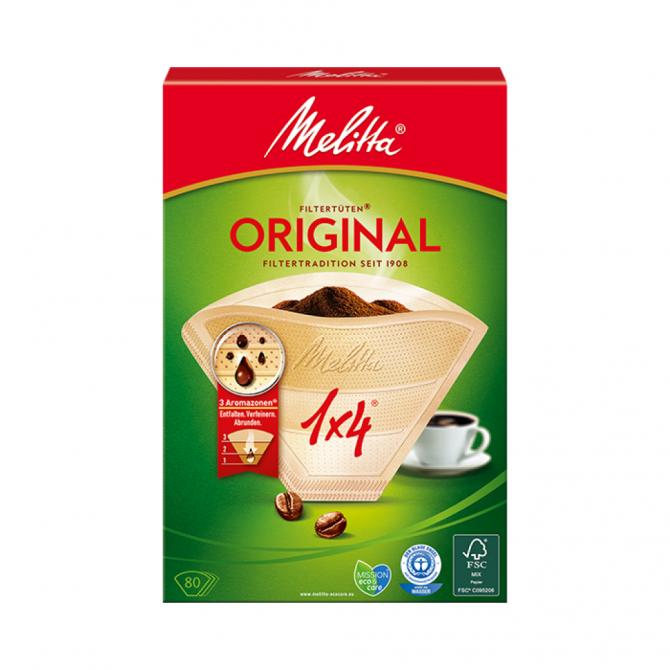 MELITTA Original kavos filtrai, 1X4, 80 vnt.