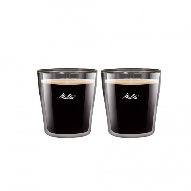 MELITTA dvigubo stiklo puodeliai, 80 ml