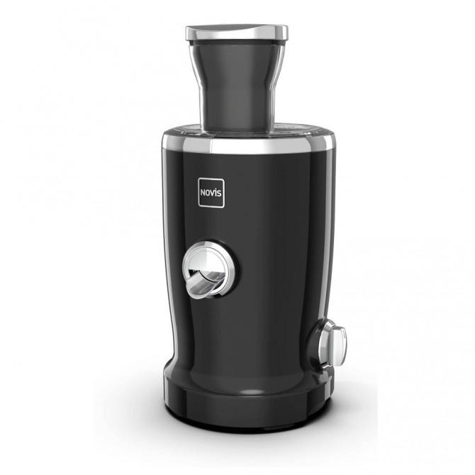 NOVIS Vita Juicer S1 sulčiaspaudė. Juodos spalvos, kompaktiška ir paprasta