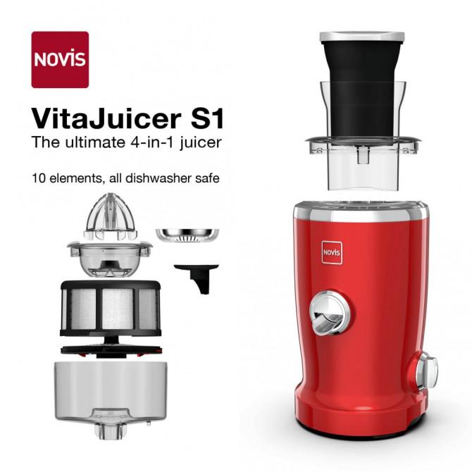 NOVIS Vita Juicer S1 sulčiaspaudė raudona