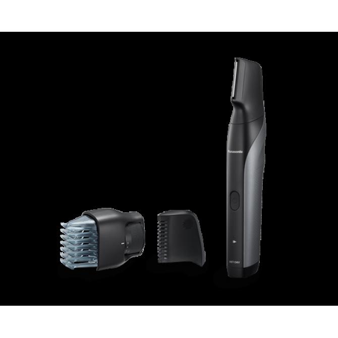 PANASONIC ER-GK80 barzdos ir plaukų kirpiklis. Juodos spalvos, inovatyvus.